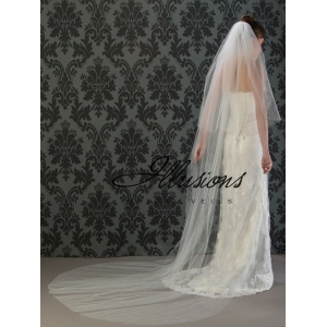 Illusions Bridal Cut Edge Veil S1-1082-CT