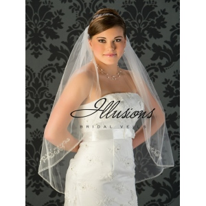 Illusions Bridal Beaded and Specialty Veils with Rhinestone Accents V-772