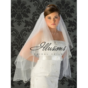 Illusions Bridal Beaded and Specialty Veils with Pearls V-749