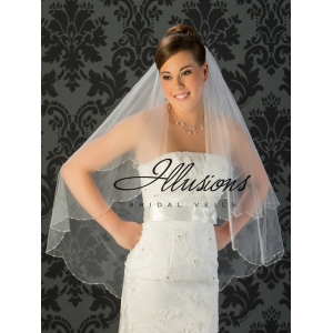 Illusions Bridal Beaded and Specialty Veils with Bugle Beads V-743