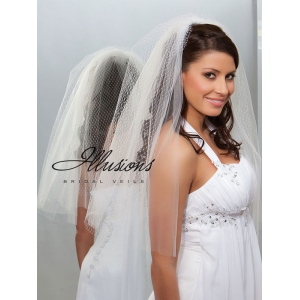 Illusions Bridal Cut Edge Veil QR7-252-CT