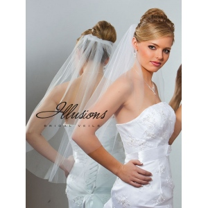 Illusions Bridal Cut Edge Veil 5-301-CT