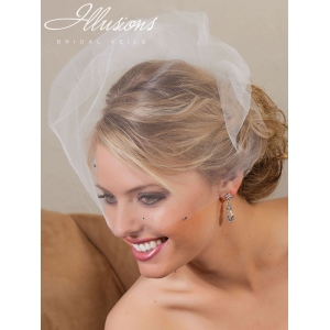Illusions Bridal Visor Veils with Rhinestone VS-789