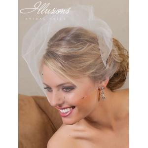 Illusions Bridal Visor Veils with Rhinestone VS-789