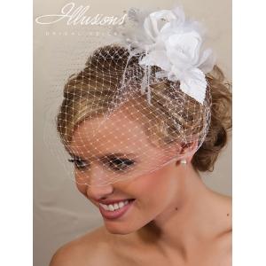 Illusions Bridal Visor Veils VS-7021: White