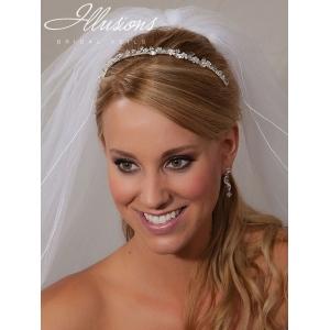 Illusions Bridal Headband 2859: Crystal