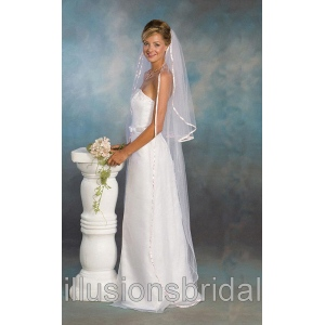 Illusions Bridal Colored Veils and Edges S7-722-3R-PK