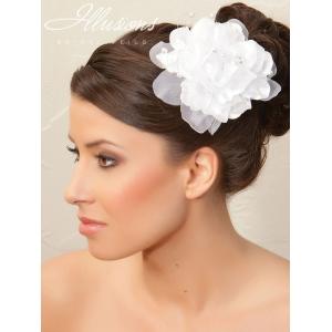 Illusions Bridal Hair Accessories 8258: White Flower