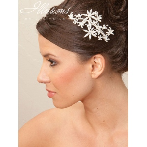 Illusions Bridal Hair Accessories 8247: Silver Flower