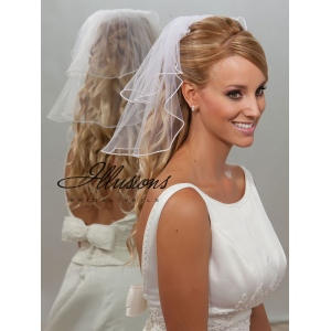 Illusions Bridal Pearl Edge Veil S5-152-P