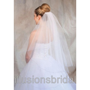 Illusions Bridal Colored Veils and Edges: Lavender Corded Edge