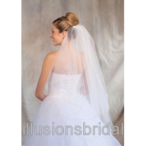 Illusions Bridal Colored Veils and Edges: Antique Gold Corded Edge