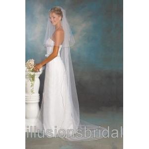 Illusions Bridal Colored Veils and Edges C5-902-C-BK: Rhinestone Accent