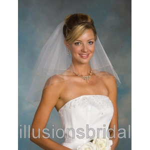 Illusions Bridal Colored Veils and Edges C5-202-C-AG: Pearl Accent