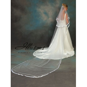 Illusions Bridal Ribbon Edge Veil C5-1442-7R