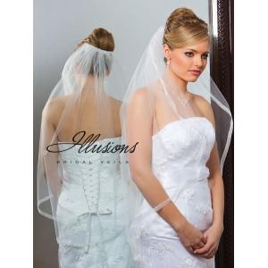 Illusions Bridal Ribbon Edge Veil 7-361-SR