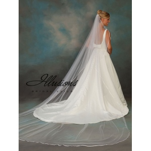 Illusions Bridal Ribbon Edge Veil 1-1441-3R
