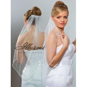 Illusions Bridal Soutache Edge Veil 5-301-ST