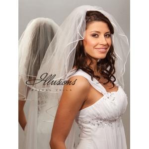 Illusions Bridal Rattail Edge Veil S7-252-RT