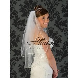 Illusions Bridal Rattail Edge Veil S5-302-RT