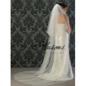 Illusions Bridal Rattail Edge Veil S1-902-RT