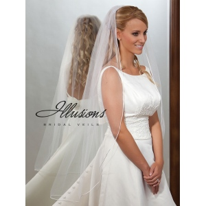 Illusions Bridal Rattail Edge Veil 7-451-RT