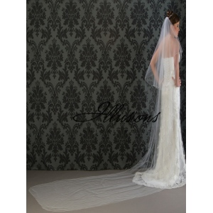 Illusions Bridal Corded Edge Veil C5-1442-C: Pearl Accent