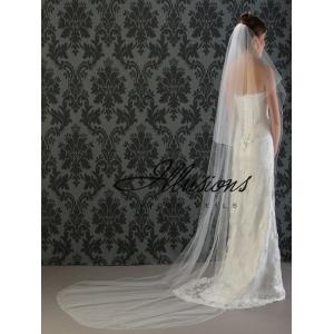 Illusions Bridal Corded Edge Veil C7-1082-C: Pearl Accent
