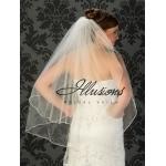 Illusions Bridal Rattail Edge Veil S7-362-RT