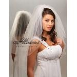 Illusions Bridal Corded Edge Veil S7-302-C: Pearl Accent