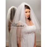 Illusions Bridal Corded Edge Veil C1-302-C: Pearl Accent