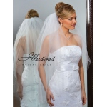 Illusions Bridal Cut Edge Veil S1-362-CT-P: Pearl Accent