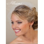 Illusions Bridal Visor Veils with Pearls VS-780