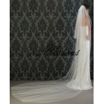 Illusions Bridal Cut Edge Veil S1-1442-CT: Pearl Accent