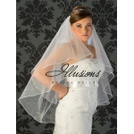 Illusions Bridal Beaded and Specialty Veils with Rhinestone Appliques V-7019