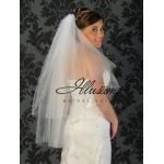 Illusions Bridal Cut Edge Veil C1-362-CT: Pearl Accent