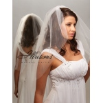 Illusions Bridal Cut Edge Veil 7-301-CT: Rhinestone Accent