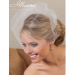 "Illusions Bridal 18"" Visor Veils with Rhinestone VS-789"