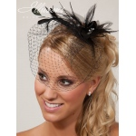 Illusions Bridal Visor Veils VS-7043: Black