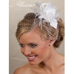 Illusions Bridal Visor Veils VS-7021: White
