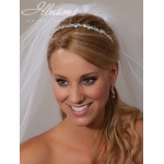 Illusions Bridal Headband 2859: Crystal