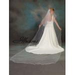 Illusions Bridal Filament Edge Veil C7-1442-F: Pearl Accent