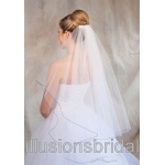 Illusions Bridal Colored Veils and Edges: Royal Blue Corded Edge