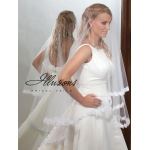 Illusions Bridal Lace Edge Veil D7-452-5L: Pearl Accent