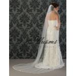 Illusions Bridal Lace Edge Wedding Veil C7-901-6L: Long Lace