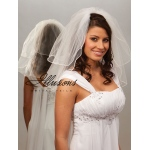 Illusions Bridal Pearl Edge Veil S5-202-P: Pearl Accent