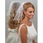 Illusions Bridal Pearl Edge Veil S5-152-P: Rhinestone Accent