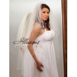 Illusions Bridal Pearl Edge Veil S1-452-P: Pearl Accent
