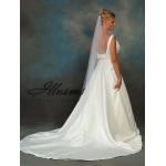 Illusions Bridal Pearl Edge Veil C7-721-P: Rhinestone Accent