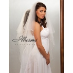 Illusions Bridal Pearl Edge Veil C7-452-P: Pearl Accent